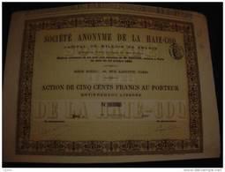 """Action"""" S.A.de La Haie-Coq"""" Paris 1880 Excellent état Reste Tous Les Coupons. - Bank & Insurance"""