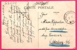 KD FELDPOSTSTATION N° 41 Vers OLDENBURG - Le Cateau - Le Jardin Public - Animée - Edit. L.S. Hautmont - 1914 - Marcofilie (Brieven)