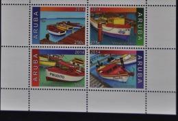 ARUBA 2014 SERIE VISSERSBOTEN FISHING BOAT  MNH VERY FINE - Curaçao, Nederlandse Antillen, Aruba