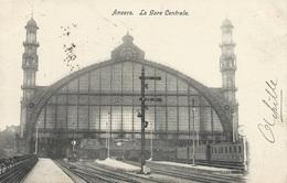 Anvers.  La Gare Centrale Expédiée En Octobre 1919 Vers Ypres. - Gares - Avec Trains