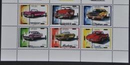ARUBA ++ 2014 SERIE AUTO CAR CORVETTE MUSTANG NIDGET BLANK BLANCO - Curaçao, Nederlandse Antillen, Aruba