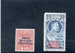 POLOGNE 1935 * 15 GR PAPIER AU VERSO - 1919-1939 Republic