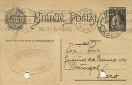 PORTUGAL - 1931   INTEIRO POSTAL   -  ENTIRE POSTAL STATIONERY - FARO- LAGOS - Entiers Postaux