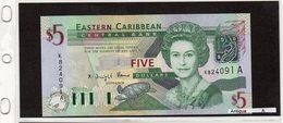 "Banconota "" Antigua"" 5 Dollars - Caraibi Orientale"
