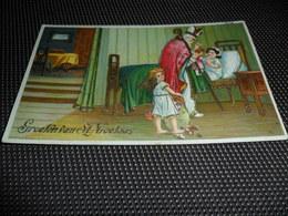Saint Nicolas  Sint Niklaas  Sinterklaas  Carte Brillante - Sinterklaas