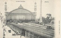 Anvers . La Gare Central - Stations - Met Treinen