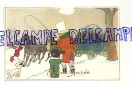 Bonne Année. Diligence. Enfants, Cocher. 1959 - Nouvel An