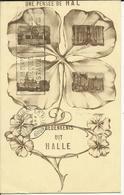 Une Pensée De Hal.    (2 Scans) - Halle