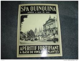Etiquette Spa Quinquina Apéritif à Base De Vin Et De Plantes Excellent état - Labels