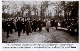 Forêt De Compiègne - Installation Du Wagon De L'Armistice - Arrivée Des Autorités - Personajes