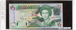 "Banconota ""Grenada"" 5 Dollars - Caraibi Orientale"