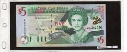 "Banconota ""Montserrat"" 5 Dollars - Caraibi Orientale"