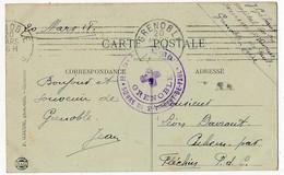 """CPA En Franchise, Cachet """"Hopital N°60 - Soeurs De St Vincent De Paul - Grenoble"""" - 1918 - Hopital Bénévole - Marcophilie (Lettres)"""