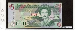 "Banconota ""Saint Kitts"" 5 Dollars - Caraibi Orientale"