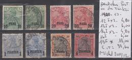 TIMBRES D ALLEMAGNE NEUF * OBLITEREES IN DER TURKEI 1900/10 Nr 12/14-16°-19* I COTE 39.60 € - Deutsche Post In Der Türkei