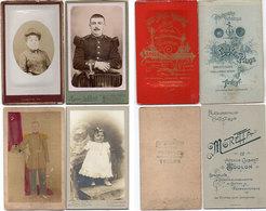 4 Photos (CDV) De Photographes De TOULON - Soldat Du 111° (Eugène De Paris) Femme (Leroux) Fillette (Moretta).. (110712) - Photos
