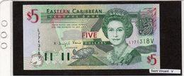 """Banconota """"Saint Vincent"""" 5 Dollars - Caraibi Orientale"""