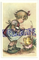Petite Fille Et Poussins. Signée Bonnie.  Coloprint Bonnie 8470 P - Illustrateurs & Photographes