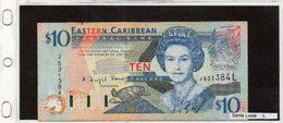 "Banconota ""Santa Lucia"" 10 Dollars - Caraibi Orientale"