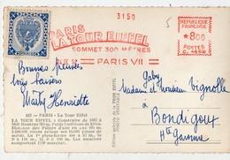 Paris Tour Eiffel : Cachet (rouge) Et Vignette  1959 (PPP16381) - Commemorative Labels