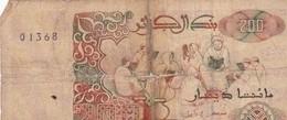 200 DINARS 21/05/92 - Algérie