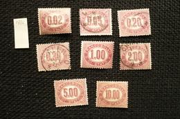 Italie 1875 Service N°1/8 (1 Et 5 Neufs *, 7 Et 8 Neufs (*)) - 1861-78 Victor Emmanuel II