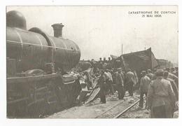 Kontich De Treinramp Van 21 Mei 1908 Oude Postkaart Spoorwegongevallen Locomotive - Kontich