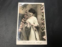 4208 - Votre Amour En échange... 1902 Timbrée - Silhouettes