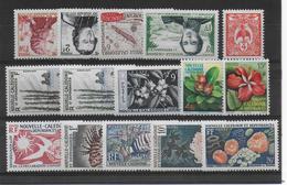 CALEDONIE - ANNEES 1953 à 1959 (SAUF YT 287) COMPLETES - YVERT N°280/294 * / MLH - COTE = 80.5 EUR. - Neukaledonien