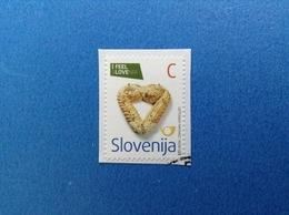 2009 SLOVENIA SLOVENIJA FRANCOBOLLO USATO STAMP USED LOVE C - Slovenia