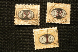 Italie 1890 Taxe N°22/24 Oblitérés - 1878-00 Humbert I