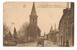 Thuin Square Du Moustier Et L'Eglise De La Ville Basse Carte Postales Ancienne - Thuin