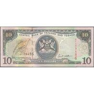 TWN - TRINIDAD & TOBAGO 43 - 10 Dollars 2002 Prefix AT - Signature: Williams UNC - Trindad & Tobago