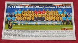 FC Sochaux - Montbéliard Saison 2008 - 2009 ::: Sports - Football ------------- 481 - Fussball