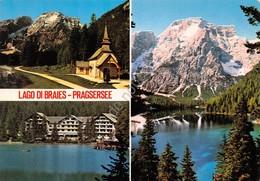 Cartolina Lago Di Braies 3 Vedute - Bolzano
