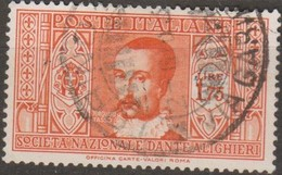 Italia 1932 Dante 1,75c Sa 311 (o) - Oblitérés