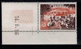 Togo - YV 259 N** FIDES Petit Coin Daté - Togo (1914-1960)