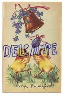 Vroolijk Paaschfeest. Deux Poussins, Oeuf, Cloche, Violettes. Coloprint 7669 - Pasen