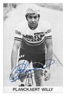 CARTE CYCLISME WILLY PLANCKAERT SIGNEE TEAM MINI FLAT 1979 - Wielrennen