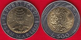 "San Marino 500 Lire 1999 Km#394 ""Exploration"" BiMetallic UNC - Saint-Marin"