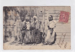 SANS DESCRIPTION, AFRICAN WOMEN WITH & SONS. CIRCULEE 1906 FRANCE TIMBRE ARRACHE- BLEUP - Afrika