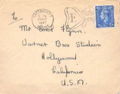 Eastbourne (Sussex)>Hollywood (Calif.) 1947 - Lettres & Documents