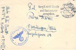 Feldpost Kommando Torpedoschule 1943 Korrespondenz - Dokumente