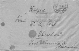 Feldpost Obischau (Namslau) Schlesien 1918 Mit Korrespondenz - Dokumente
