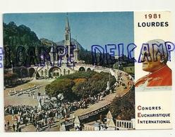 France. Hautes Pyrénées. Lourdes 1981. Congrès Eucharistique International. Le Pape Jean-Paul II. La Basilique - Astrologie