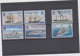 TRISTAN DA CUNHA (GRANDE BRETAGNE) 6 T Neufs Xx  Année 2002  Bateaux De La Royal Navy - Tristan Da Cunha