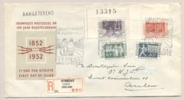 Nederland - 1952 - 100 Jaar Rijkstelegraaf - Eerste Dag E10 Serie Op R-cover Van Utrecht/Itep Naar Arnhem - Periode 1949-1980 (Juliana)