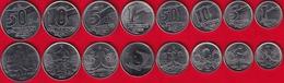 Brazil Set Of 8 Coins: 1 Centavo - 50 Cruzeiros 1989-1991 UNC - Brésil
