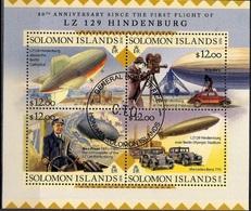 Aviation - Zeppelin - Aircraft - Space - Solomon Islands 2016 - Transportation - The 80th Anniversary Since The First Fl - Islas Salomón (1978-...)