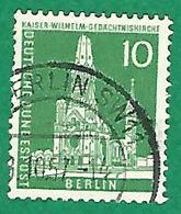 * 1956 N° 129 EGLISE EMPEREUR GUILLAUME  ?.10.57 BERLIN OBLITÉRÉ - [5] Berlin